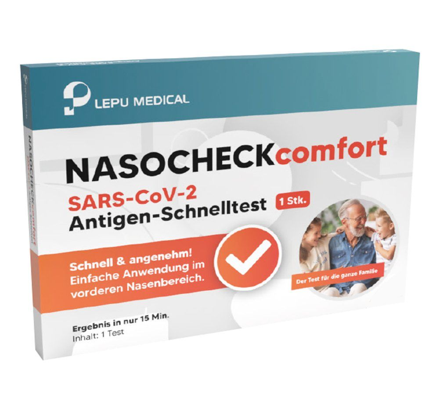 slide image NASOCHECKcomfort SARS-CoV-2 Antigen-Test (Nasal im vorderen Nasenraum/SELBSTTEST FÜR LAIENANWENDER) (AKTION: 1,55 € / Stk.)