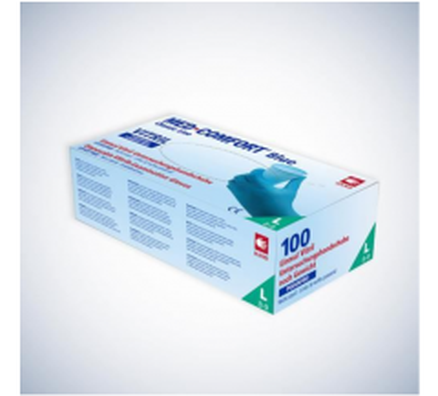 AMPRI Med-Comfort Vitril Einmal Vinyl-Nitril Schutz- und Untersuchungshandschuhe blau-Gr. XL